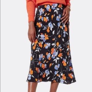 Joie Brystal Floral Print Midi Skirt size 4